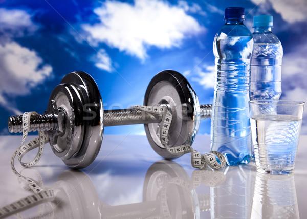 Fitness cielo azul cielo músculo grasa frescos Foto stock © JanPietruszka