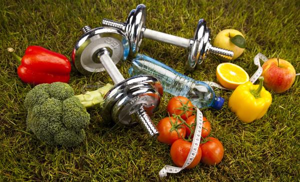 Photo stock: Fitness · alimentaire · herbe · verte · santé · exercice · énergie