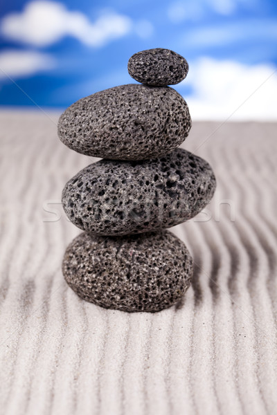 Equilibrado zen pedras grupo rocha relaxar Foto stock © JanPietruszka
