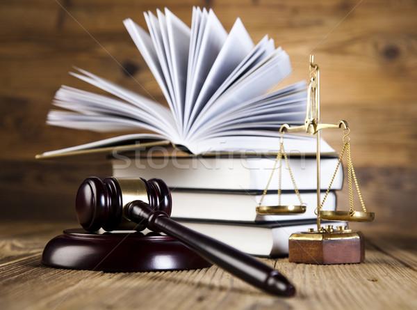 木製 小槌 正義 法的 弁護士 裁判官 ストックフォト © JanPietruszka
