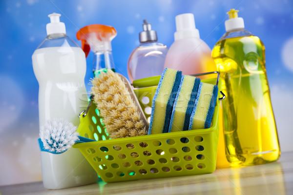 Wassen schoonmaken kleurrijk werk home groep Stockfoto © JanPietruszka