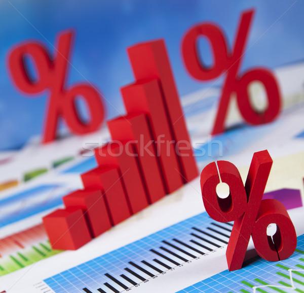 Porcentaje descuento colorido signo rojo financiar Foto stock © JanPietruszka