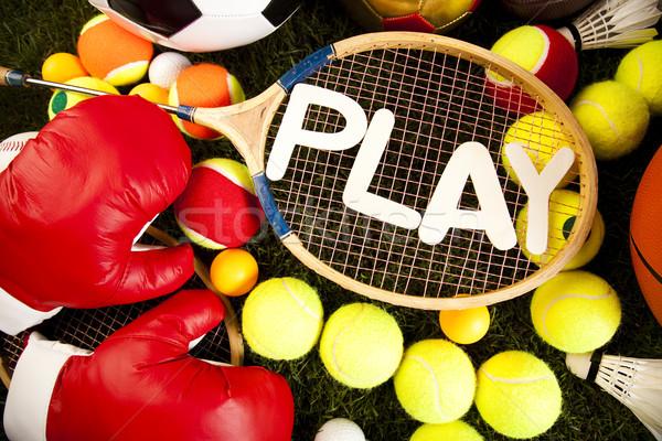 Sport, a lot of balls and stuff Stock photo © JanPietruszka