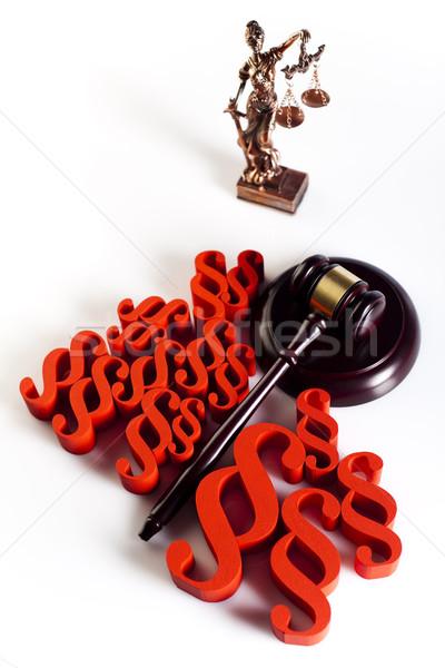 裁判所 裁判官 木材 正義 弁護士 犯罪 ストックフォト © JanPietruszka