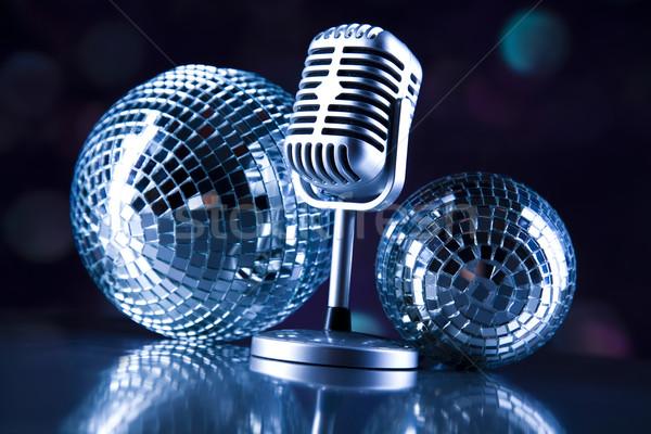 Retro microfono musica discoteca rock jazz Foto d'archivio © JanPietruszka