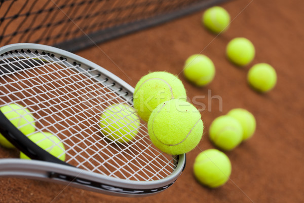 Sport racchetta da tennis sfondo sport terra Foto d'archivio © JanPietruszka