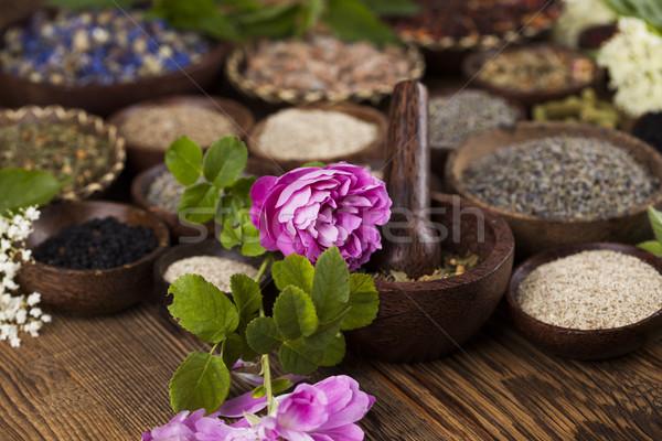 Foto stock: Medicina · alternativa · secas · ervas · naturalismo · médico · natureza