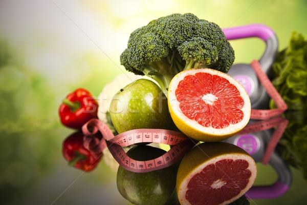 Alimenti freschi misura dieta fitness sport Foto d'archivio © JanPietruszka