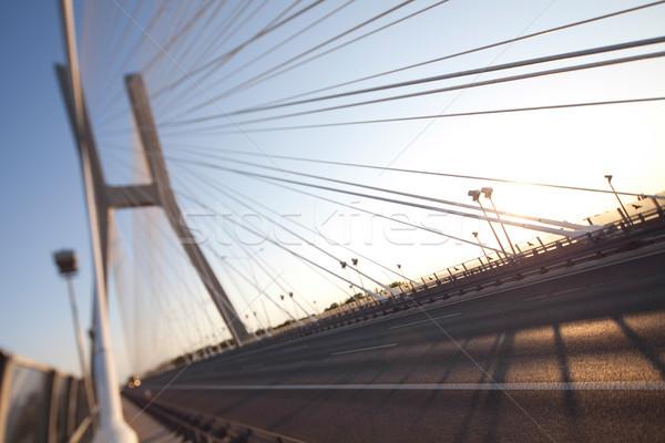 Bridge in Wroclaw, saturated landmark view Stock photo © JanPietruszka