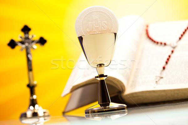 Holy communion, bright background, saturated concept Stock photo © JanPietruszka