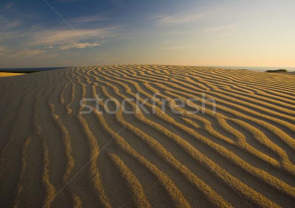 Sand background, pure nature beautiful landscape Stock photo © JanPietruszka