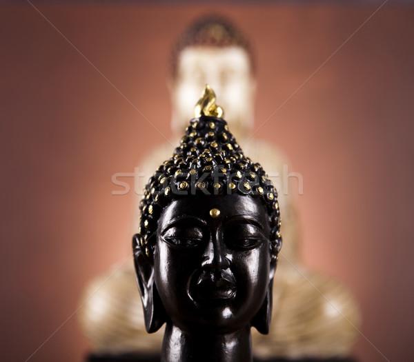 портрет Будду солнце дым расслабиться поклонения Сток-фото © JanPietruszka
