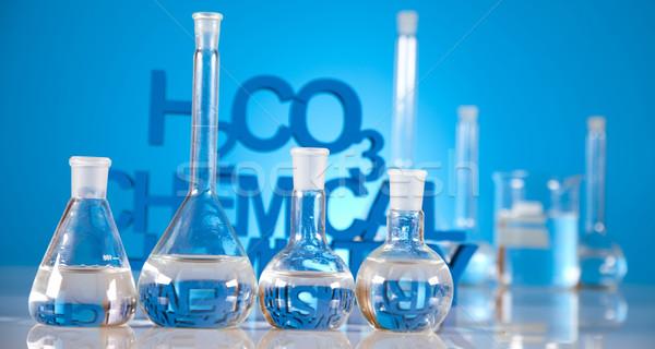 Laboratorium glas chemie wetenschap formule geneeskunde Stockfoto © JanPietruszka