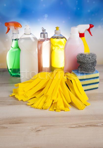 чистящие средства домой работу красочный группа бутылку Сток-фото © JanPietruszka