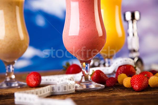 Protein shakes, sport and fitness Stock photo © JanPietruszka