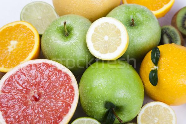 Gyümölcs mix fényes színes természet gyümölcs egészség Stock fotó © JanPietruszka