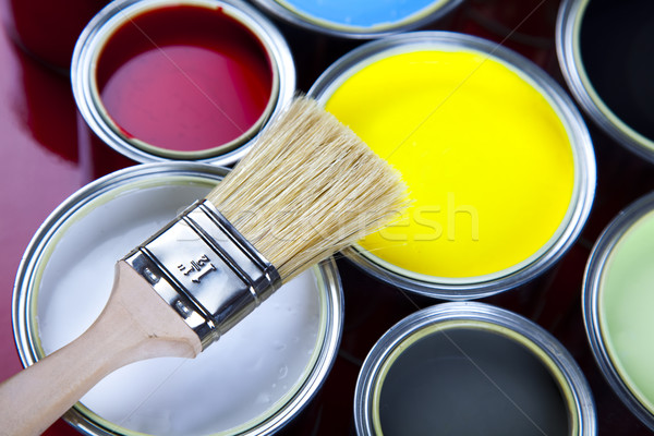 Painting time, bright colorful tone concept Stock photo © JanPietruszka