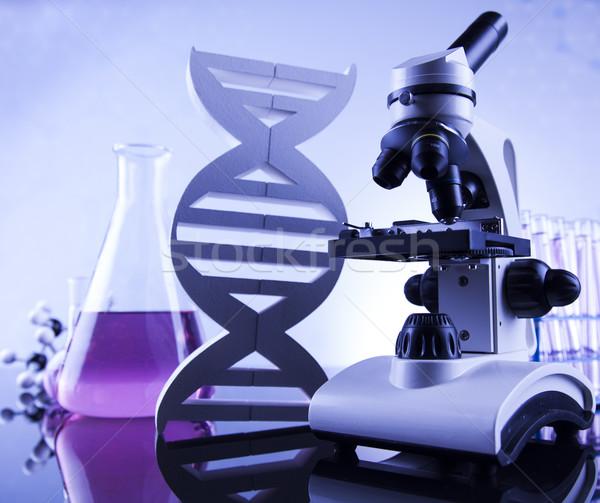 Mikroskop tıbbi laboratuvar araştırma deney eğitim Stok fotoğraf © JanPietruszka