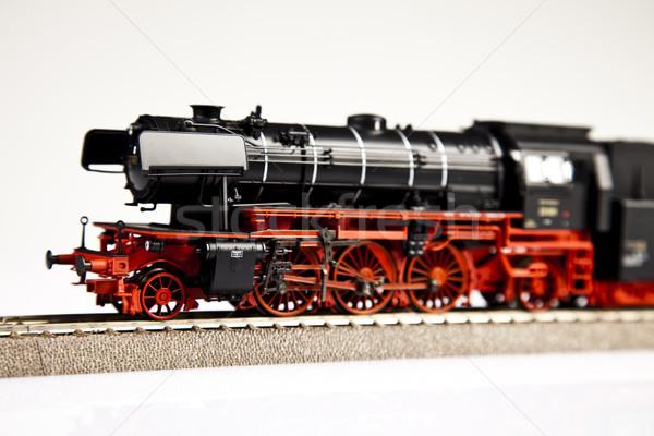 Stockfoto: Vervoer · heldere · kleurrijk · speelgoed · model · trein