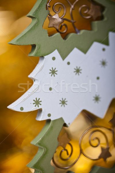 Christmas winter concept, colorful saturated home concept Stock photo © JanPietruszka