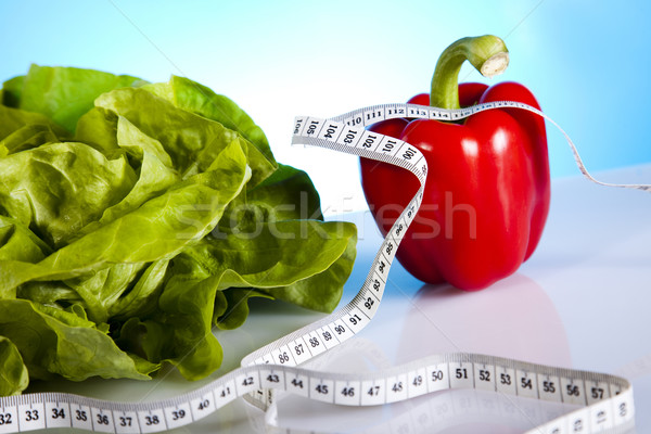 Vegetali fitness energia grasso nastro mangiare Foto d'archivio © JanPietruszka
