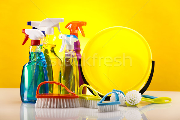Pracy domu butelki czerwony usługi Zdjęcia stock © JanPietruszka