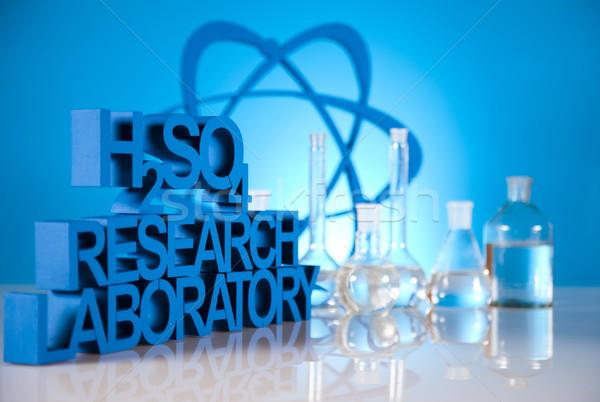 Stock photo: Laboratory glass, Chemistry science formula