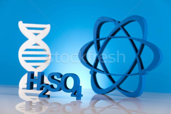 ADN moléculas átomo laboratorio cristalería diseno Foto stock © JanPietruszka