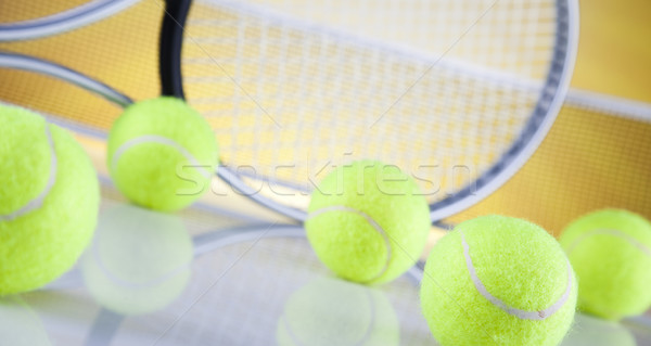 Racchetta da tennis sfondo giocare gioco line Foto d'archivio © JanPietruszka