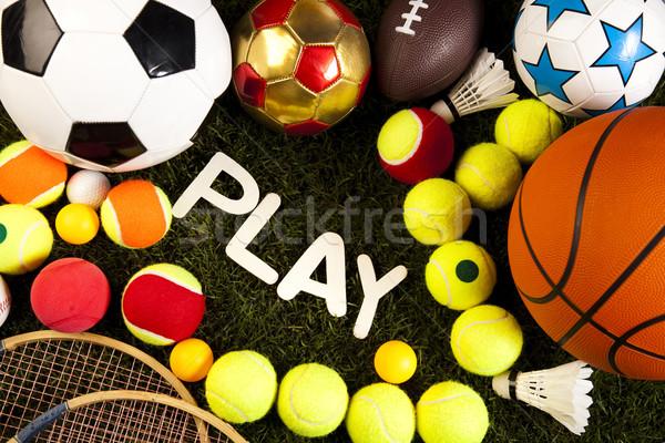 Sport voetbal zomer oranje tennis Stockfoto © JanPietruszka