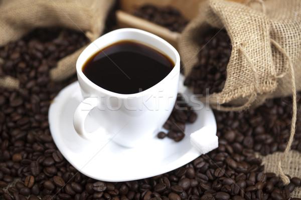Geleneksel kahve fincanı fasulye doku gıda sağlık Stok fotoğraf © JanPietruszka
