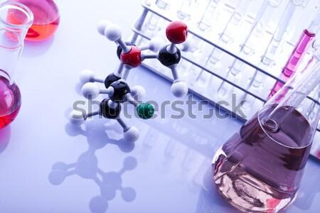 Laboratory glassware equipment, Experimental plant Stock photo © JanPietruszka