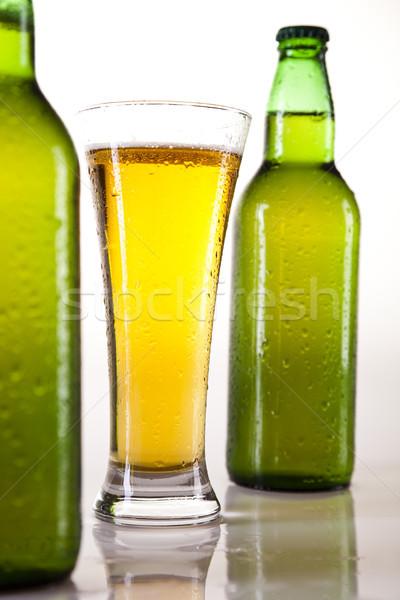 şişe bira parlak canlı alkol parti Stok fotoğraf © JanPietruszka