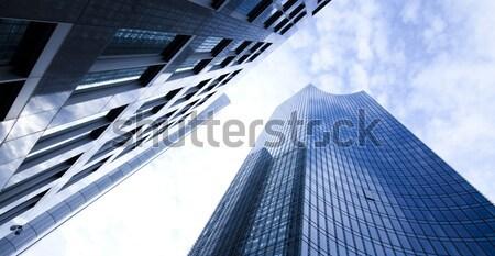 Modern city background, bright colorful tone concept Stock photo © JanPietruszka
