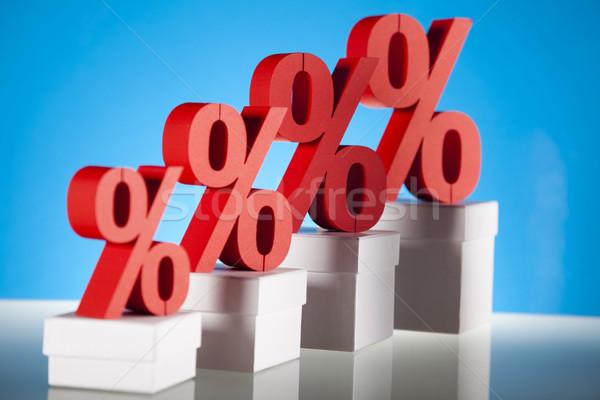 Vermelho percentagem símbolo negócio assinar banco Foto stock © JanPietruszka