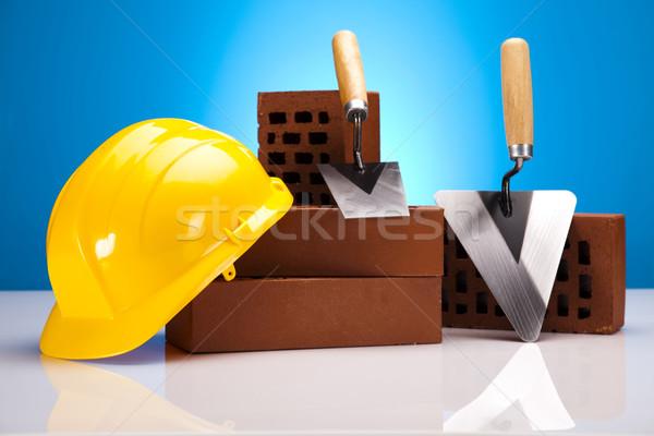 Bouw tool gebouw muur werk home Stockfoto © JanPietruszka