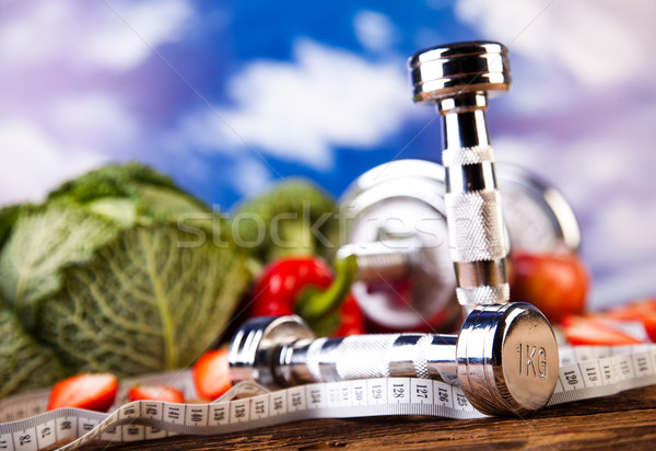 Vitamina fitness dieta fruto saúde Foto stock © JanPietruszka