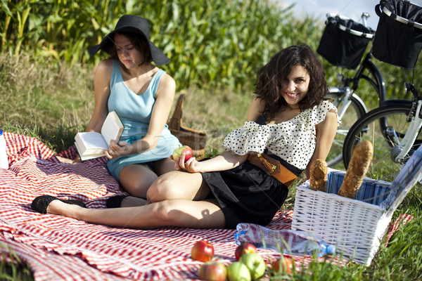 Picnic, summer free time spending Stock photo © JanPietruszka