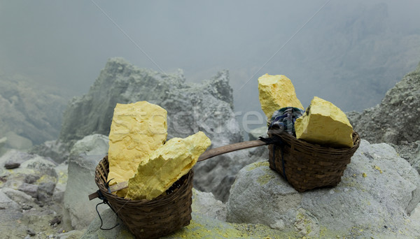 Mand vulkaan Indonesië natuur rook meer Stockfoto © JanPietruszka