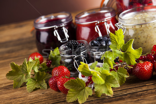 Stockfoto: Vers · bessen · wild · bes · jam · vruchten