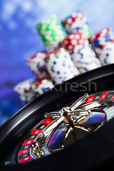 Roulette table in a casino Stock photo © JanPietruszka