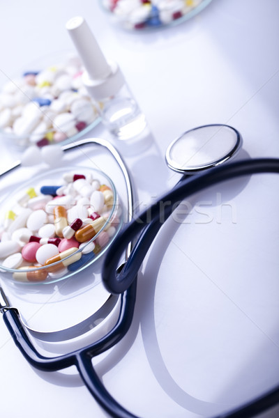 錠剤 カプセル カラフル 明るい 薬 医師 ストックフォト © JanPietruszka