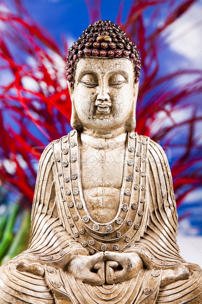 Buddha soleil fumée détendre culte asian Photo stock © JanPietruszka