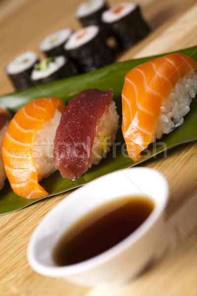 Traditional japanese food, Sushi Stock photo © JanPietruszka