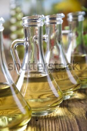 ストックフォト: 新鮮な · オリーブ · オリーブオイル · ツリー · 太陽 · フルーツ