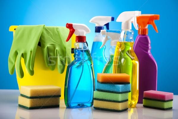 Limpeza equipamento trabalhar casa garrafa vermelho Foto stock © JanPietruszka