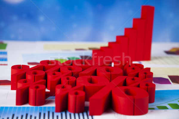Stock photo: Percentage, Concept of discount colorful tone