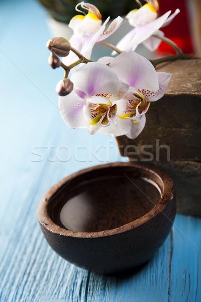 Spa wellness vers organisch badkamer douche Stockfoto © JanPietruszka