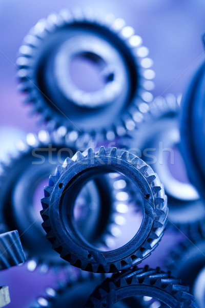 Engrenagens industrial mecanismo negócio carro Foto stock © JanPietruszka