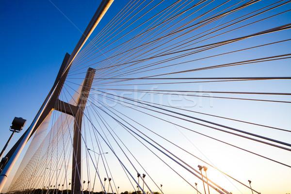 Ogromny most punkt orientacyjny widoku niebo budynku Zdjęcia stock © JanPietruszka